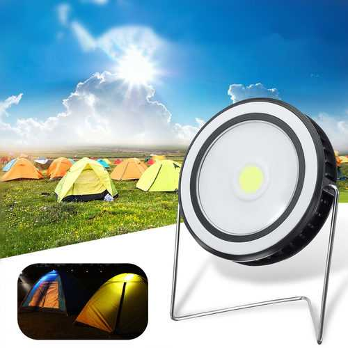 150LM COB LED Solar Panel Power Light Outdoor Waterproof Emergency Spotlight Lamp for Camping Hiking
