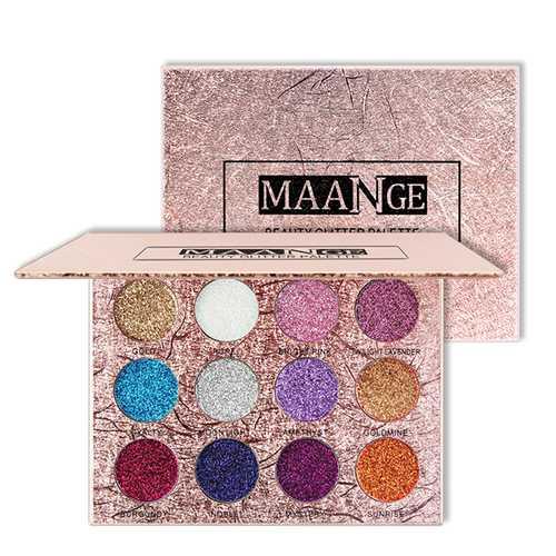 12 Colors Glitter Eyeshadow