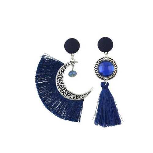 Bohemian Crystal Moon Drop Earrings Dangle women's Earrings