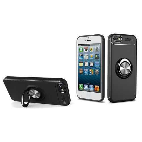 C-KU 360º Rotating Ring Grip Kicktand  Protective Case For iPhone 5/5s/SE