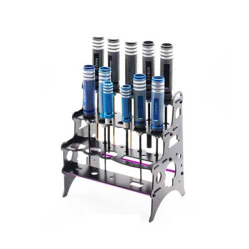 22 In 1 Screwdriver Glassfiber Tools Placement Rack Stand Case Holder