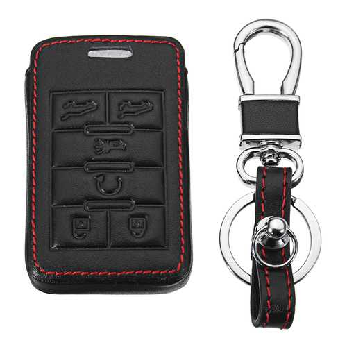 Leather Cover Remote Car Key Case/bag for Cadillac