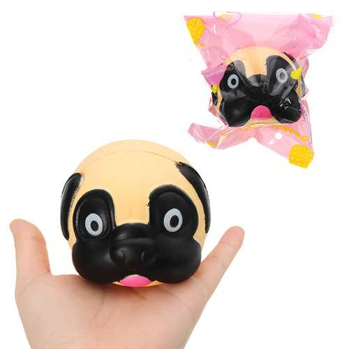 Dog Head Squishy 8*7*7.2cm Slow Rising With Packaging Collection Gift Soft Toy