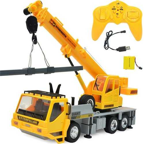 3822 1/24 2.4G 8CH RC Car Construction Crane Vehicles With Light Sound Toys