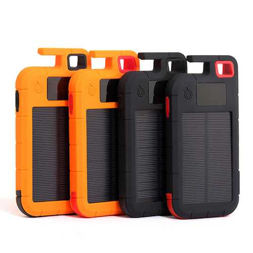 Bakeey Digital LED Display Flashlight Solar DIY Power Bank Case Battery Box for Smartphones