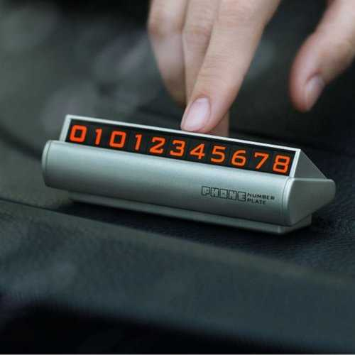Fluorescent Magnetic Hidden Style Car Temporary Parking Phone Number Card Plate Car Decoration