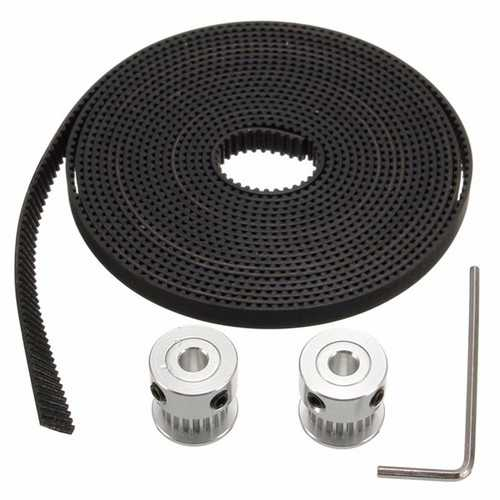 3M GT2 Timing Belt With 2pcs 20T Bore 5mm GT2 Timing Pulley