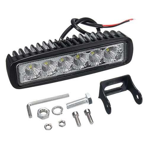 12V 18W 6LED Waterproof LED Headlights Flood Work Light Motorcycle Truck Boat Camping Lamp