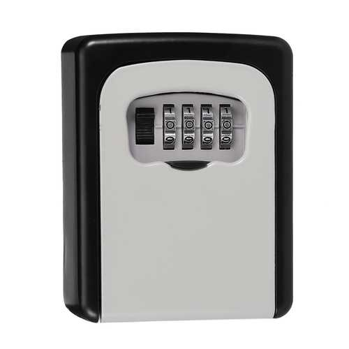 KCASA LK-10 4 Digit Combination Lock Box Key Storage Lock Box Wall Mounted Security Safe Box