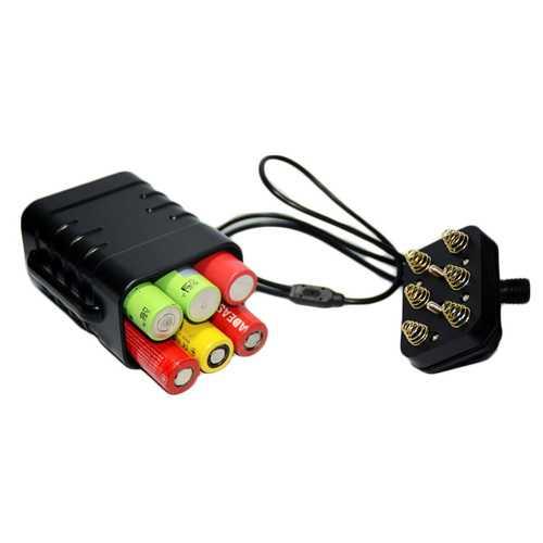 XANES 8.4V Bike Headlight Waterproof Plastic Battery Box 6 Section 18650 Lithium Battery Packs