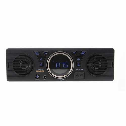 AV252 12V Car Stereo SD Card MP3 Audio Receiver Built-in Speaker bluetooth Dual Host Speakers