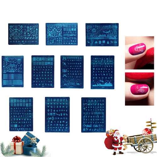 1Pc Nail Stamping Template DIY Polish