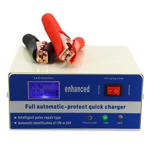 110V/220V 12V/24V Electric Auto Car Lead Acid Battery Charger Smart Pulse 200AH