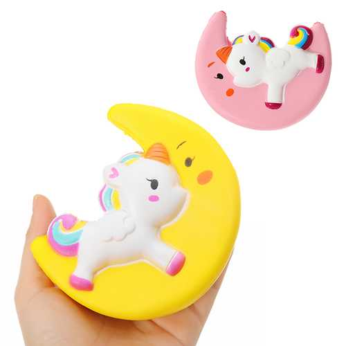 Cartoon Unicorn Moon Pegasus Squishy 11cm Slow Rising Collection Gift Toy