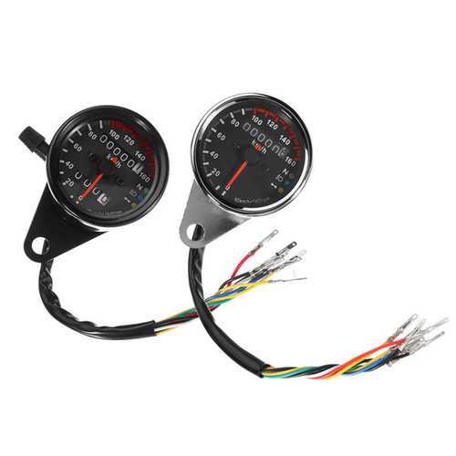 12V Motorcycle Speedometer Odometer LED Backlight Night Readable Speed Meter Motorbike Instrument