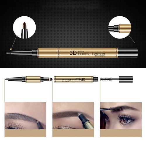 3 In 1 Eyebrow Pencil Waterproof Eyebrow Pen