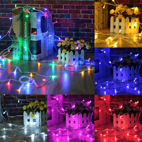 100M 500LED Outdoor Fairy String Light Christmas Wedding Party Lamp Waterproof  EU Plug AC220V