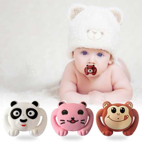 Animal Style Funny Baby Pacifier Food Grade Silicone Soother Teether Orthodontic Dummy Baby Nipple