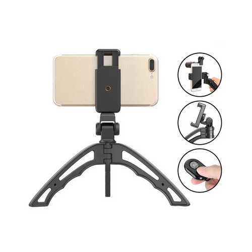 APEXEL APL-JJ04 Portable Bluetooth Selfie Camera Handheld Tripod Monopod Bracket Phone Holder Mount