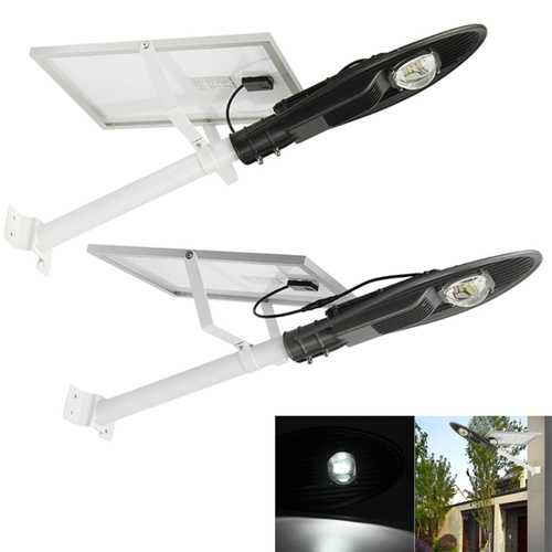 10W Solar Power Light-controlled Sensor LED Street Light Lamp With Pole Waterproof for Outdoor Road
