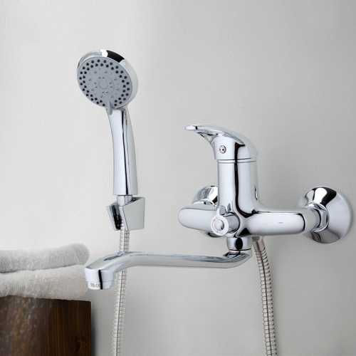 FRAP F2203 Bathroom ABS Handheld Shower Head and with 180 Degree Rotation Shower Faucet Bathtub Shower Set