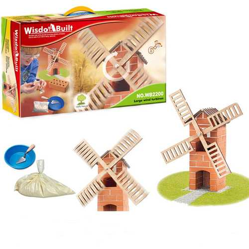 Wisdom Built DIY Model Building Windmill Construction Building A House Beach Toy