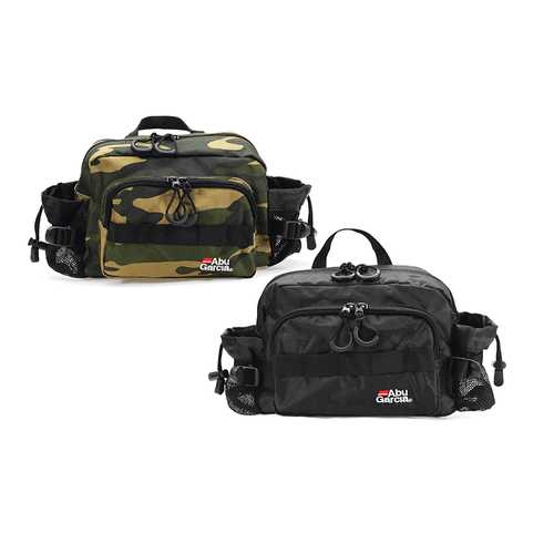 Abu Garcia 600D Polyester Waterproof Fishing Waist Bag Multifunctional Fishing Bag Tackle 2 Colors