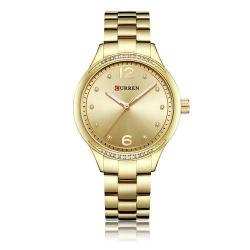 CURREN 9003 Crystal Casual Style Stainless Women Wrist Watch