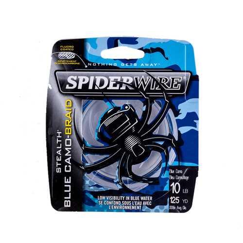 Spiderwire Stealth #1.5 114m 4.5kg Power PE Fishing Line Blue Camo Fishing Braid Line Pesca