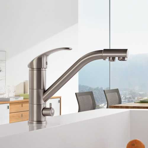 FRAP F4321-5 Kitchen Water Purification 360 Degree Rotation Single Handle Double Holes Hot and Cold Water Sink Faucet