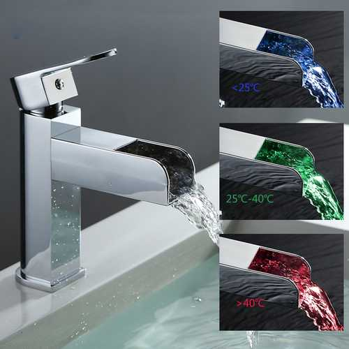 GAPPO GLD3919 Bathroom ABS Temperature LED Light Single Handle Single Hole Hot and Cold Water Sink Faucet Mixer Basin Faucet