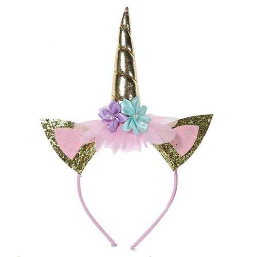 Gold Headband Horn