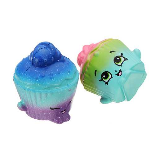 2Pcs Cream Cake Squishy 6.5*3.5cm Slow Rising Soft Collection Gift Decor Toy