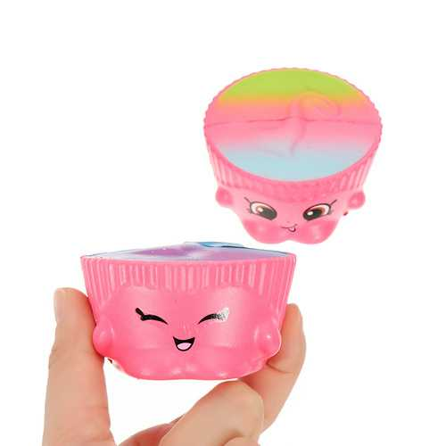 2Pcs Cake Cup Squishy 6.5*3.5cm Slow Rising Soft Collection Gift Decor Toy