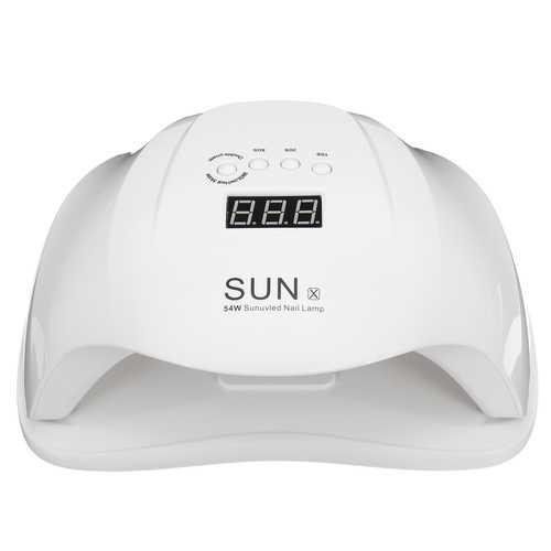 54W White UV LED Lamp Time Setting Nail Art Dryer