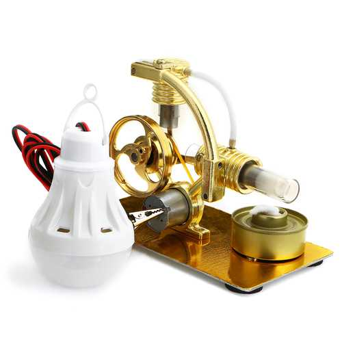 Aluminum Alloy Air Stirling Engine Generator Model Developmental Toy