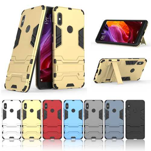 Bakeey Armored Hybrid TPU & PC Hard With Bracket Back Protective Case For Xiaomi Redmi Note 5 Pro