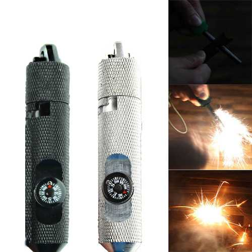 IPRee EDC Survival Kit Fire Starter Compass Outdoor Camping Emergency Lighter Equipment