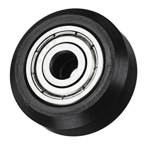 5mm POM Black Idler D Type Wheel Wheels CNC Engraving Millling Machine Accessories