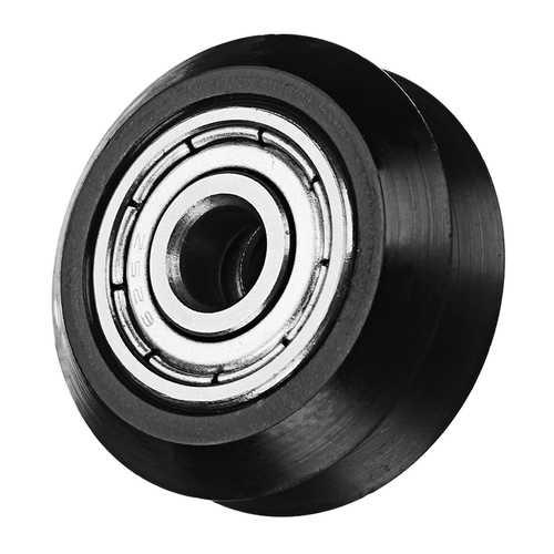 5mm POM Black Idler V Type Wheel Wheels CNC Engraving Millling Machine Accessories