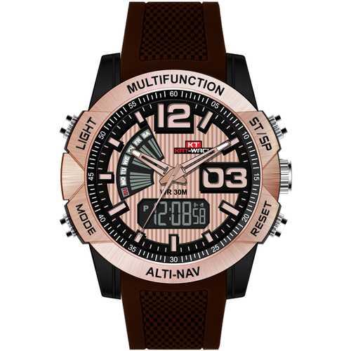 KAT-WACH KT718 Chronograph Men Dual Display Digital Watch