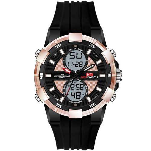 KAT-WACH KT711 Chronograph Sport Dual Display Digital Watch
