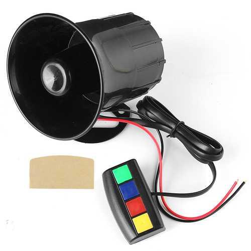 4 Sound Loud 110dB 30W 12V Alarm Fire Horn Siren Speaker For Car Motorcycle RV
