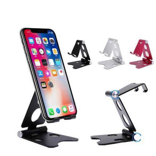 Bakeey Aluminum Alloy Anti-Slip Adjustable Desktop Phone Holder Stand for Mobile Phone iPad