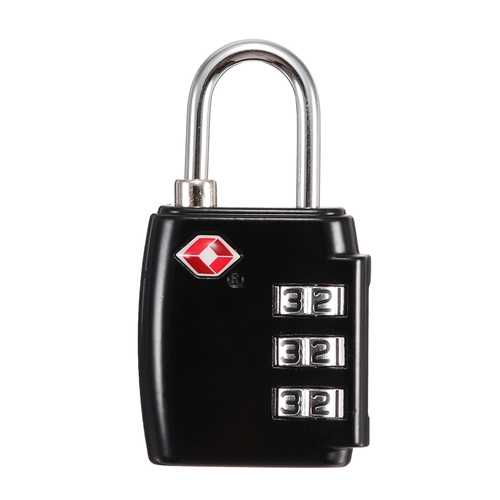 KCASA LK-30 3 Digit TSA Combination Lock Travel Security Approved Luggage Padlock Password Lock