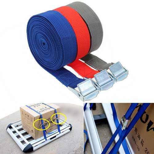 250kg Bearing Polyester Fiber Binding Belt Multifunction Car Travel Fishing Luggage Binding Belt