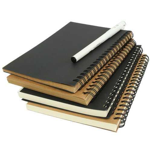 1Pcs Kraft Spiral Sketching Notebook Graffiti Creative Notebook Notepad Diary Book School Stationery