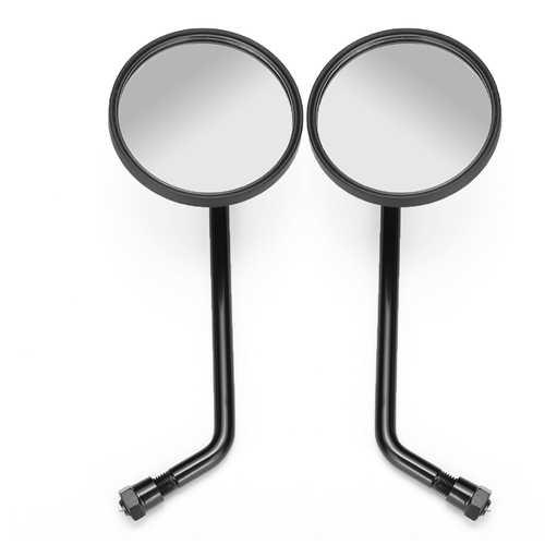 Retro Black Round Motorcycle Mirrors for Harley Davidson Sportster Ryca Motors