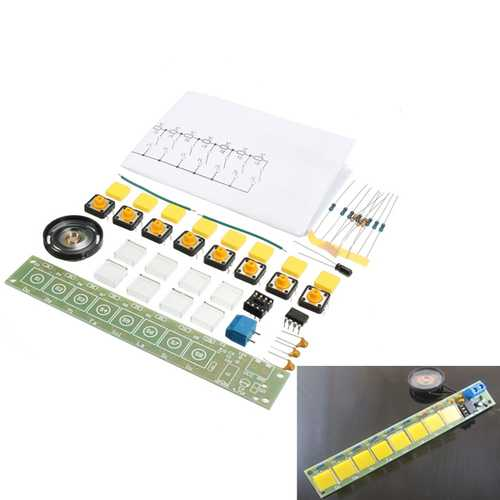 5Pcs DIY NE555 Electronic Organ Teaching Kit