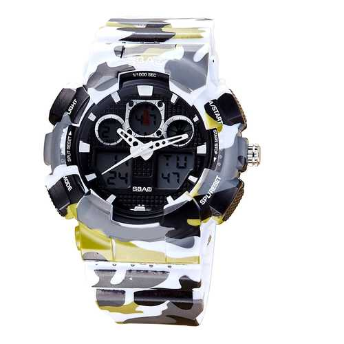SBAO S8017-1 Backlight Stopwatch Dual Display Digital Watch